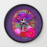 Catrina Doña Beatriz Wall Clock