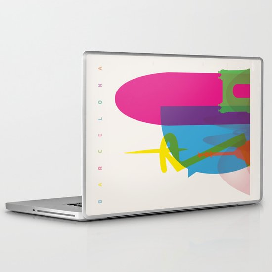 Shapes of Barcelona. Accurate to scale Laptop & iPad Skin