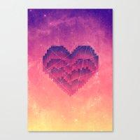 Interstellar Heart III Canvas Print