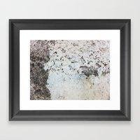Peeling White Wall Framed Art Print