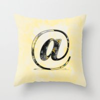 At Sign {@} Series - Baskerville Typeface Throw Pillow