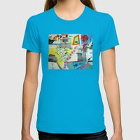 Collage 444 Womens Fitted Tee Teal SMALL