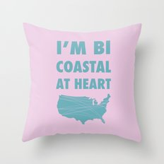 Bicoastal At Heart Throw Pillow