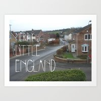 Merry Little England Art Print