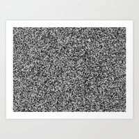 grayscale treemap mosaic - high contrast Art Print