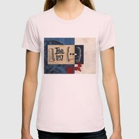 one and three quarters of things Womens Fitted Tee Light Pink SMALL