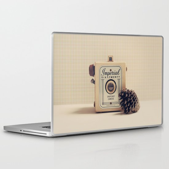 Retro Camera and Pine Cone Laptop & iPad Skin