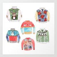Ugly Sweaters Art Print