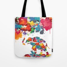 Paint elephant Tote Bag
