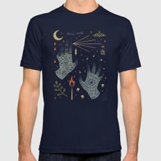 A Curse Upon You! Mens Fitted Tee Navy SMALL