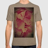 hydrangea Mens Fitted Tee Tri-Coffee SMALL
