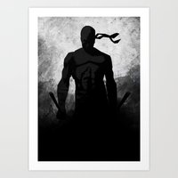 The Devil B&W Art Print