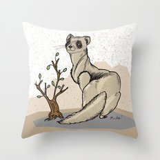 Ferret Throw Pillow