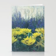 Stationery Cards featuring Small Summer Garden by Victoria Herrera