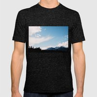 Clouds over the Mountains Mens Fitted Tee Tri-Black SMALL