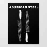 American Steel Cutlery Canvas Print