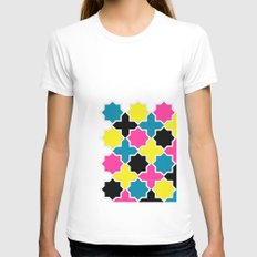CMYK IV Womens Fitted Tee White SMALL