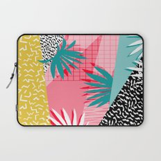 Bingo - throwback retro memphis neon tropical socal desert festival trendy hipster pattern pop art  Laptop Sleeve
