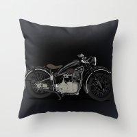1937 Black Throw Pillow
