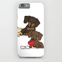iPhone & iPod Case featuring Valentine's Day Love Daschund Illustration by Li Kim Goh