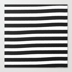 Brushy Stripes - Dark Gray Canvas Print