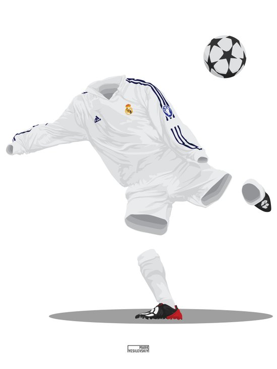Real Madrid 2001/02 - Champions League Winners Art Print