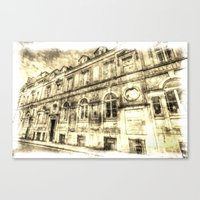 Victorian London Vintage Canvas Print