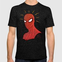 Spidey Mens Fitted Tee Tri-Black SMALL
