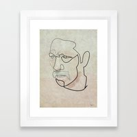One line Danny Trejo Framed Art Print