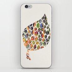 Leafy Palette Ecru iPhone & iPod Skin