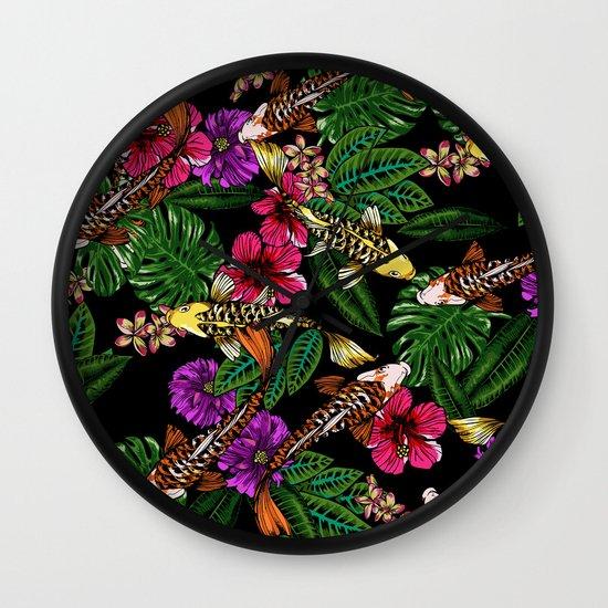 Tropical Koi Wall Clock