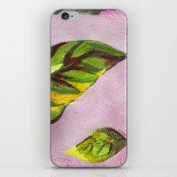 big green leaf iPhone & iPod Skin