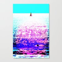 Sailboat and Swimmer (2d) Canvas Print