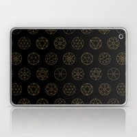 Geocircles (Golden) Laptop & iPad Skin