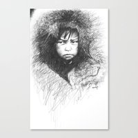 Inuit Boy Canvas Print