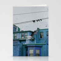Stationery Card featuring Blue by The Strange Days Of Gothicolors