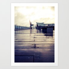 Olympia waterfront  Art Print
