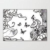 Releasing Butterflies Canvas Print