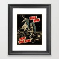 Ride, Ride, Pony, Ride, Ride Framed Art Print