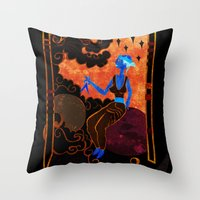 Muse of Astronomy  Throw Pillow