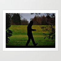 A Walk In The Dark  Art Print