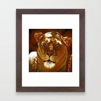 Red Lion Framed Art Print