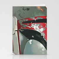 boba fett poster effect Stationery Cards