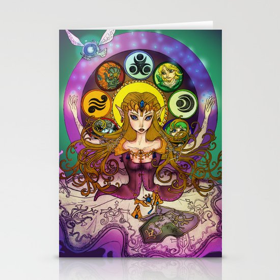 Mystic Zelda Stationery Card