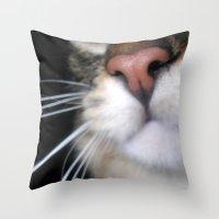 Kitty Nose Throw Pillow