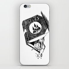 Girl and a monster iPhone & iPod Skin