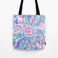 Boho Flower Burst In Pin… Tote Bag