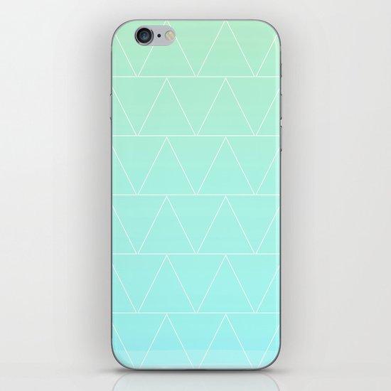 Mint Heaven Triangles iPhone & iPod Skin