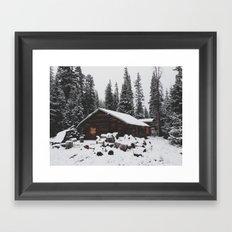 Winter Cabin Framed Art Print
