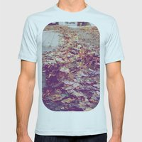 Autumn Path Mens Fitted Tee Light Blue SMALL